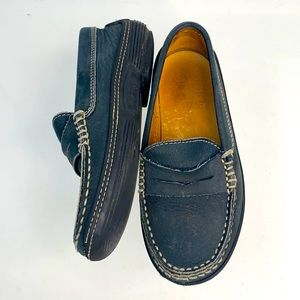 Tod's Sz 28 Kids Suede Slip On Moccasins Loafers